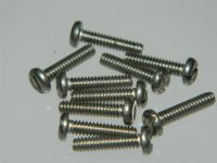 "10 x 4-40 UNC Screws Slotted Pan Head Stainless Steel Length 1/2"" [O6]"